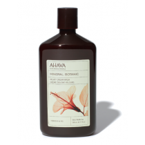 Ahava Dead Sea Plants Mineral Botanic Cream Wash Hibiscous & Fig 17oz